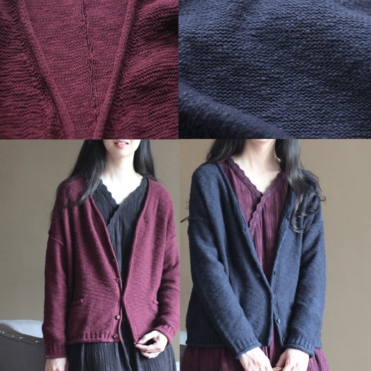 2021 burgundy cozy sweater casual sweaters women fall blouse v neck