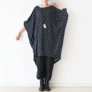 2017 fall O shape strip dresses plus size cotton dress caftans shirts