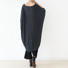 Load image into Gallery viewer, 2017 fall O shape strip dresses plus size cotton dress caftans shirts