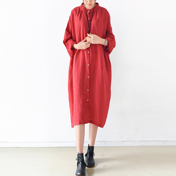 2021 fall Plus size linen dresses cute linen shirt dress maternity dresses