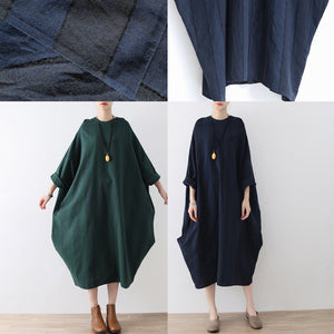 2017 fall baggy cotton dresses oversized long linen dresses plus size autumn outfits no limit to body shape