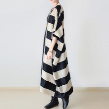 2017 fall oversized stripe dresses plus size dress baggy caftans no limit to weight