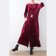Afbeelding in Gallery-weergave laden, 2017 fashion corduroy plus size tops and casual wide leg pants