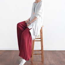 Afbeelding in Gallery-weergave laden, 2017 long silk pants wide leg pants draping high waist trousers