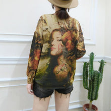 Afbeelding in Gallery-weergave laden, 2017 plus size casual slim fit sweater t shirts fashion belle prints long sleeve knit pullover