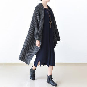 2017 winter gray knit sweater woolen cardigans plus size cape warm coats