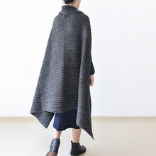 Load image into Gallery viewer, 2017 winter gray knit sweater woolen cardigans plus size cape warm coats