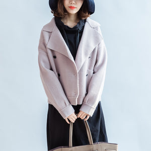 2017 winter pink short woolen jackets oversized woolen coats