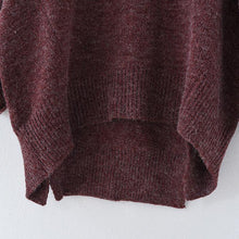 Load image into Gallery viewer, 2017 winter short knit sweaters oversize pullover cotton sweaters