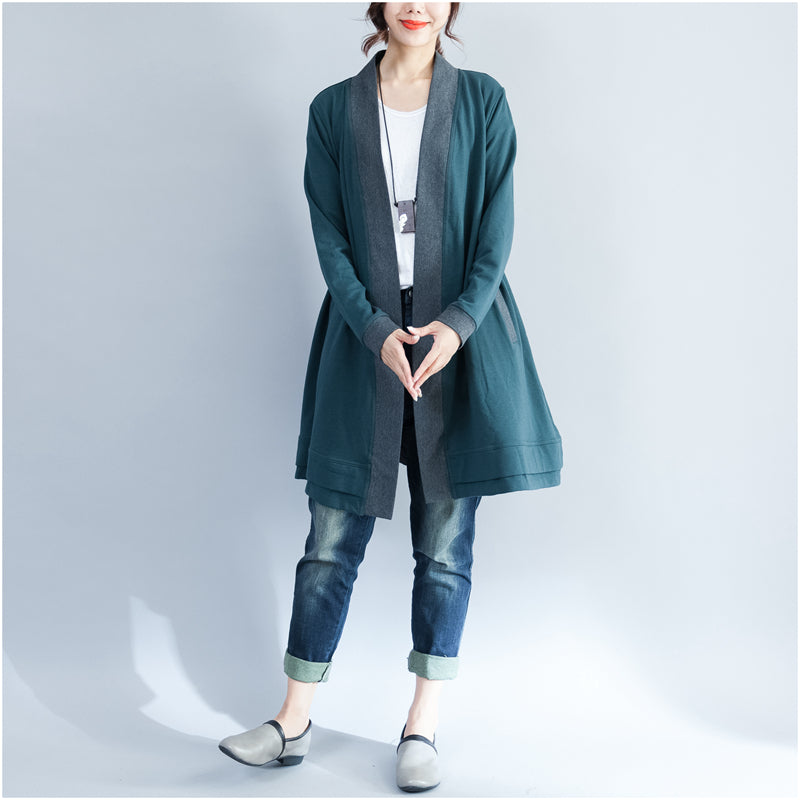2021 winter wrap cotton coat plus size casual long sleeve cardigans