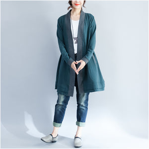 2017 winter wrap cotton coat plus size casual long sleeve cardigans