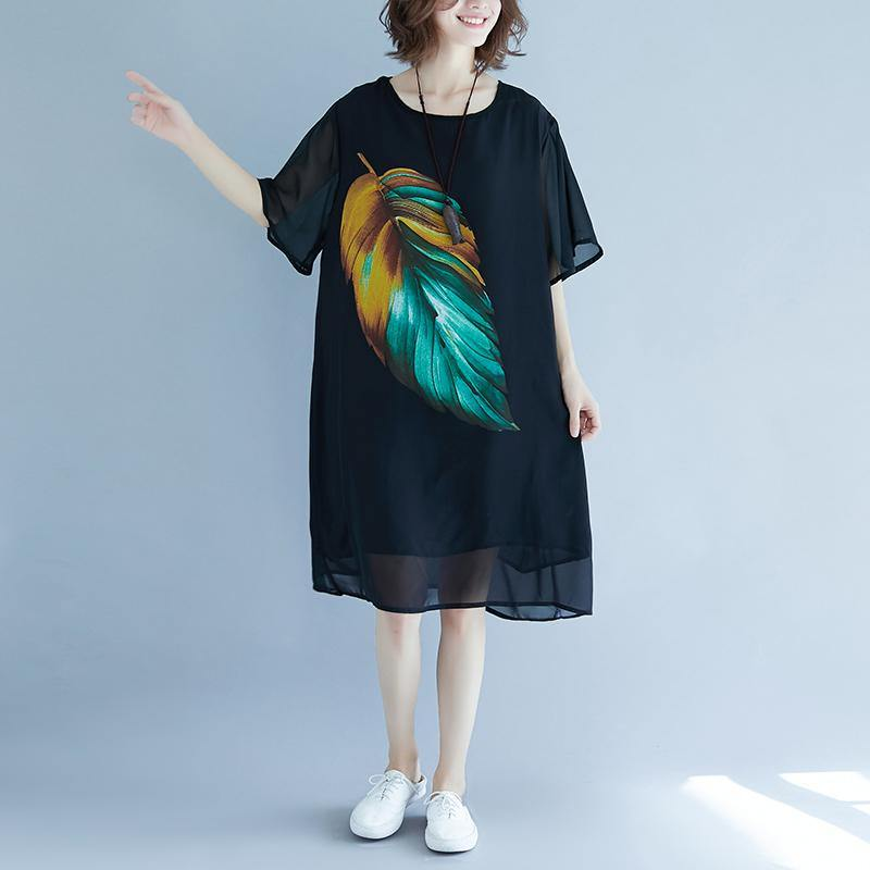 2019 black beach dress o neck short sleeve floor length dress baggy dresses summer dress
