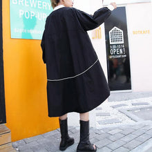 2018 black thin coat casual low high cardigans boutique big pockets jackets