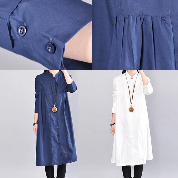 413b1358e61 ... 2018 navy pure linen dresses plus size clothing linen clothing dress  casual wrinkled solid color linen ...