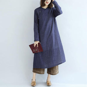 2018 spring long cotton dresses vintage maxi dress gown caftan traveling dress