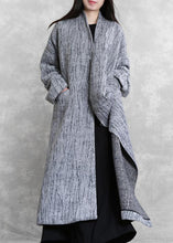 Load image into Gallery viewer, 2019 oversized long coat women gray asymmetric pockets Woolen Coats Women