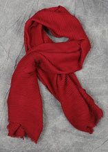 Load image into Gallery viewer, 2019 whiter warm cotton Cinched red scarves