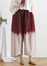 Load image into Gallery viewer, 2020 new retro national style skirt pants red gradient loose large size cotton and linen casual pants