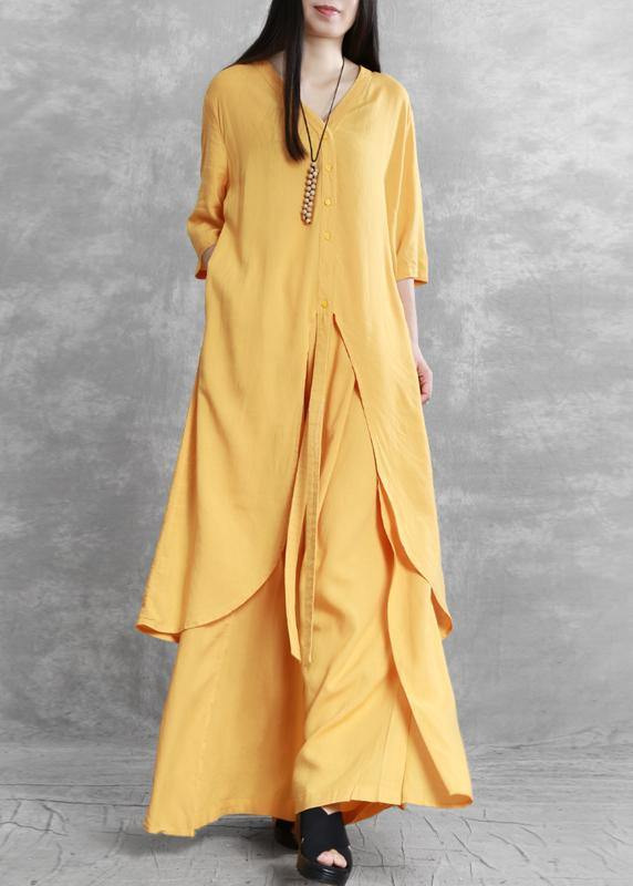2020 summer new irregular long shirt draped casual two-piece suit