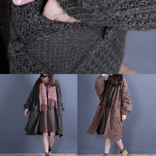 Load image into Gallery viewer, Aesthetic fall knit sweat tops fall fashion green side open knitted jackets