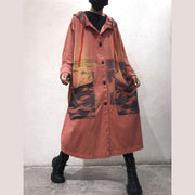Art Green Baggy Hooded Coats