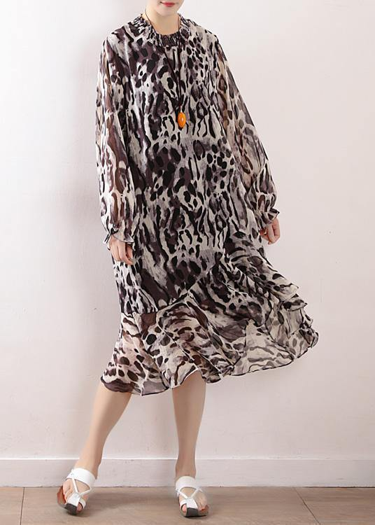 Beach Leopard chiffon Robes plus size Fashion Ideas A line skirts Love spring Dresses