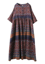 Load image into Gallery viewer, Beautiful blended Wardrobes Drops Design Retro Print Washed Comfortable Loose Dress