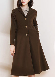 Beautiful chocolate Plus Size trench coat pattern big hem spring women coats