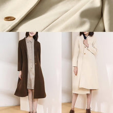 Load image into Gallery viewer, Beautiful chocolate Plus Size trench coat pattern big hem spring women coats