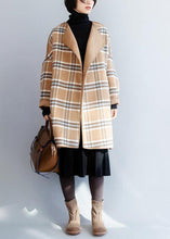 Load image into Gallery viewer, Beautiful khaki plaid Fashion clothes For Women Neckline o neck winter coat