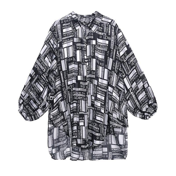 Bohemian Graphic Button Long sleeve Shirt