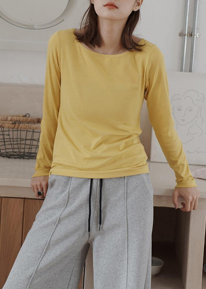 Bohemian wild cotton fall crane tops Work Outfits yellow blouses