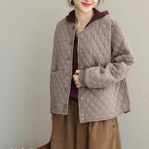 Casual Korea Style Short Thicken Coat New Women Loose Jacket