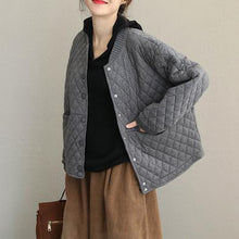 Load image into Gallery viewer, Casual Korea Style Short Thicken Coat New Women Loose Jacket