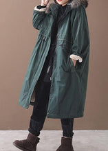 Load image into Gallery viewer, Casual plus size Jackets & Coats hooded outwear army green drawstring coat