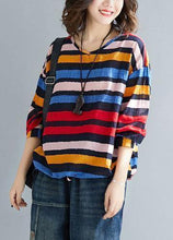 Load image into Gallery viewer, Chic rainbow cotton clothes drawstring Vestidos De Lino tops