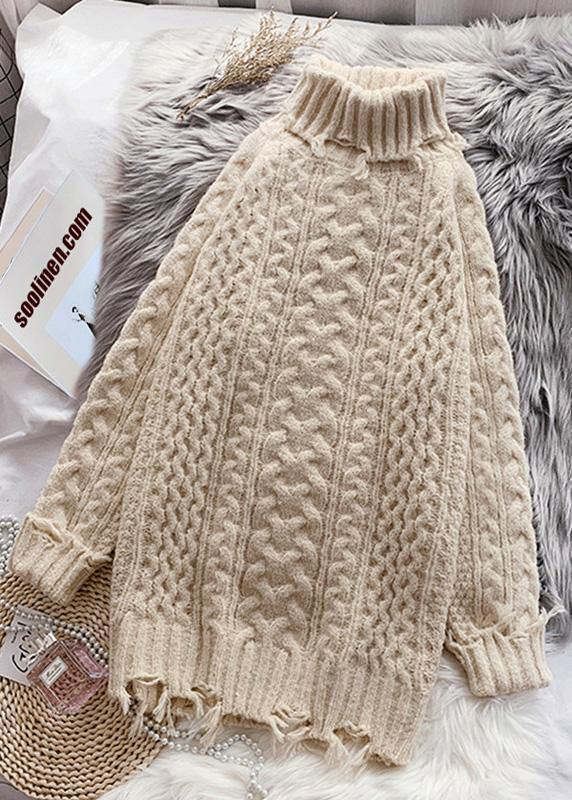 Christmas high neck Sweater thick weather Quotes cable tunic sweater dresses