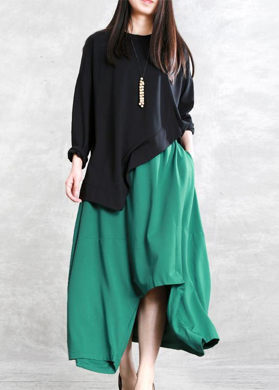 Classy green Fashion Ideas elastic waist asymmetric pants