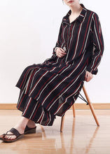 Load image into Gallery viewer, Cute red striped outwear casual lapel cardigans