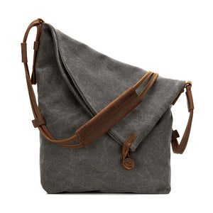 DIY Vintage Women dark gray Crossbody Bag