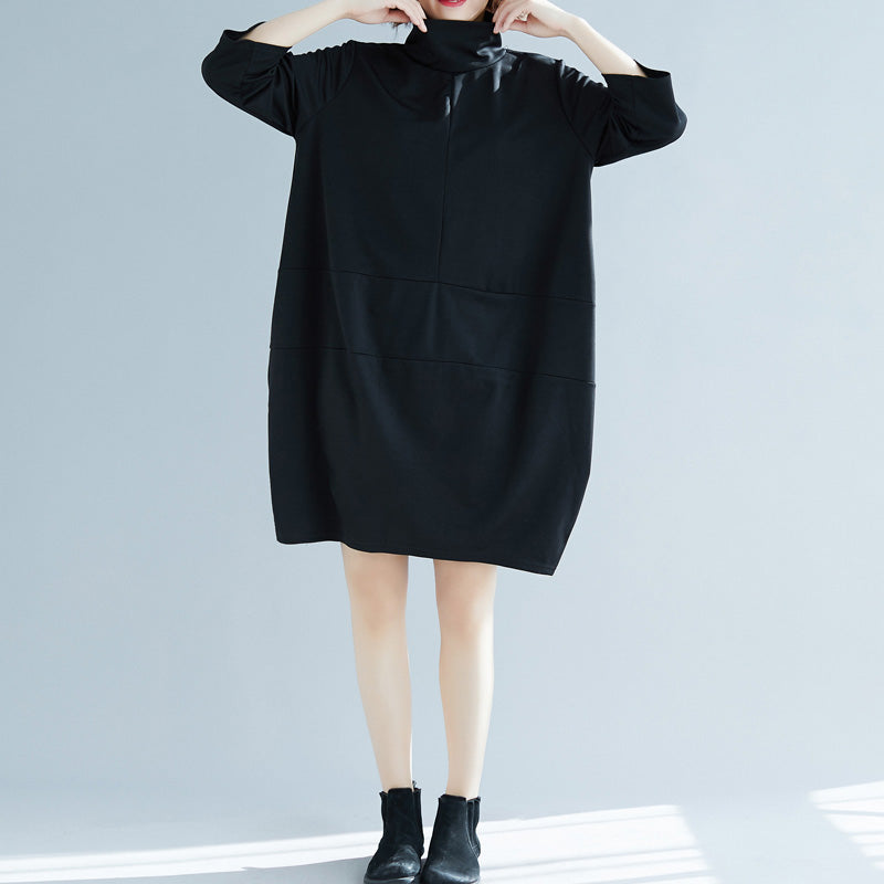 DIY black Cotton Tunics Fine Fashion Ideas bracelet sleeved daily high neck Dresses
