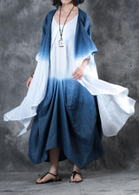 Load image into Gallery viewer, DIY gray blue Gradient color Fine outfit Fabrics fall asymmetric coats