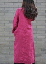 Load image into Gallery viewer, DIY stand collar side open Tunics Work purple Maxi Dress