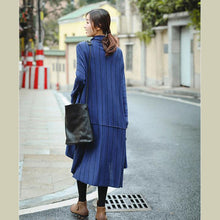 Load image into Gallery viewer, Elegant Blue High Neck Loose Fashion Sweater Dresses For Women
