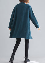 Load image into Gallery viewer, Elegant blackish green Fine casual coats women Work Outfits v neck Button coats