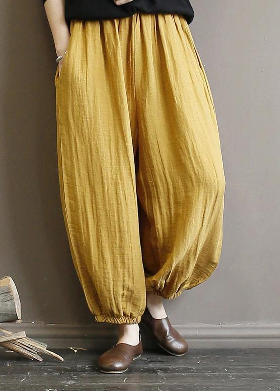 Elegant cotton clothes For Women Pakistani Casual Solid Color Pleated Harem Pants