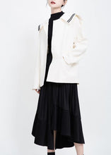 Load image into Gallery viewer, Elegant long sleeve Fashion Sailor Collar outfit white Knee jackets