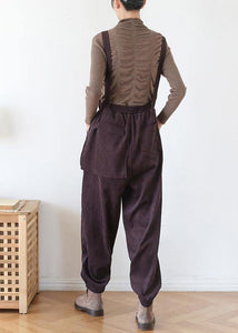Elegant spring pants oversize chocolate Work Outfits jumpsuit pants