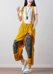 Ethnic Women Casual Patchwork Jumpsuit