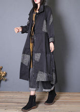 Load image into Gallery viewer, Fashion plus size Coats fall black zippered coats